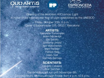 Opening @ ArtCosmos: Light – in honor of the International Year of Light established by the UNESCO