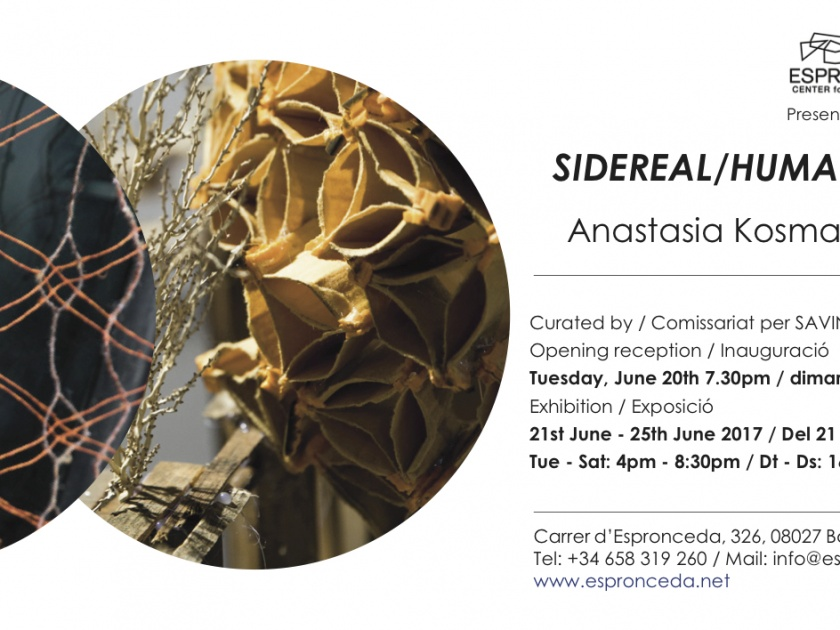 "Opening @""Sidereal/Human Architectures"" by Anastasia Kosmadaki & Emile Pierret – Tuesday 20th of June – 19h30"