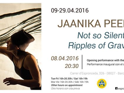 Opening @ 'Not so Silent Ripples of Gravity' by Jaanika Peerna