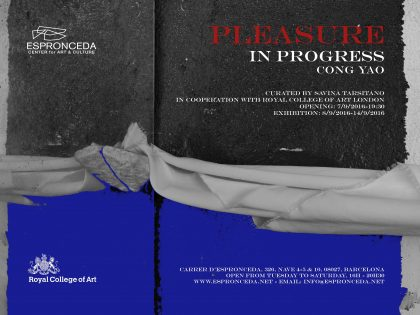 "Vernissage @""Pleasure in Progress"" by Yao Cong"