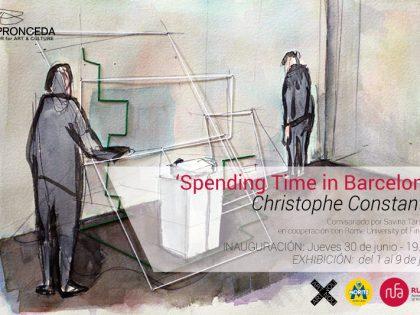 Inauguración @ 'Spending Time in Barcelona' por Christophe Constantin