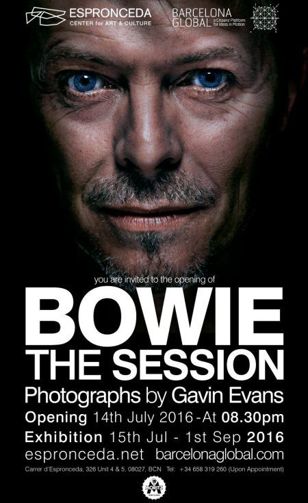 Flyer Bowie The Session Espronceda
