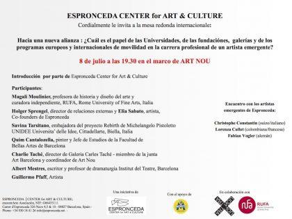 Mesa Redonda @ 'Hacia una nueva alianza' – 8 de julio a las19.30h