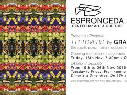 Opening @'LEFTOVERS' by Grazia Amendola 26th Nov – 8.00pm
