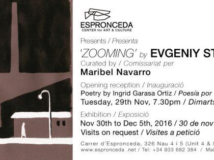 OPENING @ 'ZOOMING' by Evgeniy Stasenko – 29th Nov – 7.30pm