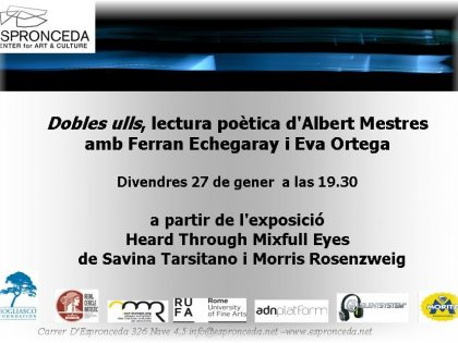 "Poetical recital @""Dobles Ulls"" of Albert Mestres – JAN 27th – 19h30"