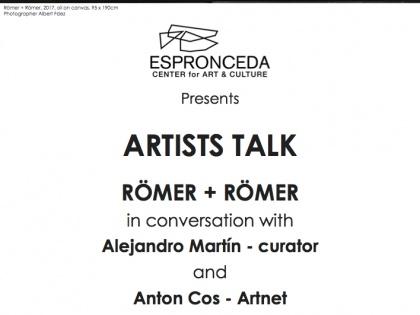 """Finissage @""""Artist Talk"""" amb Römer + Römer, Alejandro Martín i Anton Cos – 4 de Maig – 20h"""