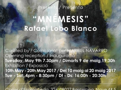 "Finissage @""MNÉMESIS"" by Rafael Lobo Blanco – Saturday 20th May – 19h30"