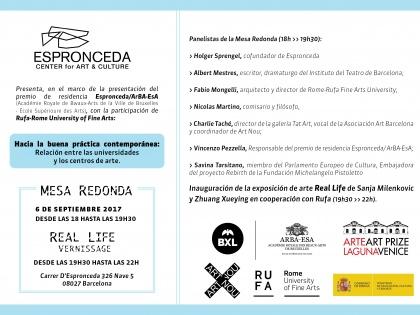 Roundtable @Hacia la buena práctica contemporánea: relación entre las universidades y los centros de arte – Set 6, 18h