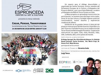 Mesa Redonda Crear, Pensar, Transformar @ 24/05, 18h30 to 21h