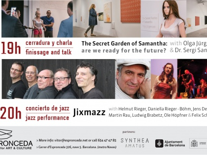 "Finissage ""The Secret garden of Samantha"" & Jixmazz jazz concert, 09/06 @19h"