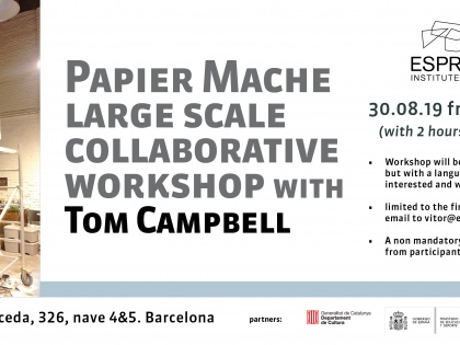 Papier Mache Large Scale Collaborative Workshop con Tom Campbell