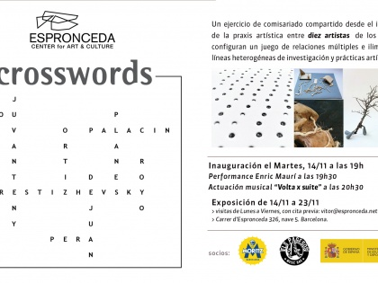 Crosswords @ collective artists, November 14th, 19h