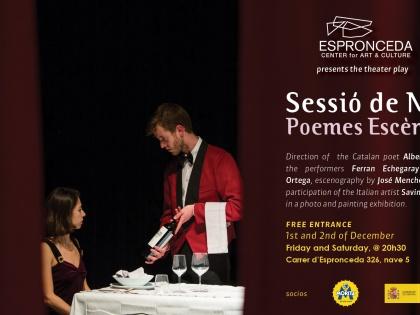 Sessiò de Nit: Poems Escènics @ theater play by Albert Mestres, Dec 1 & 2, 20h30