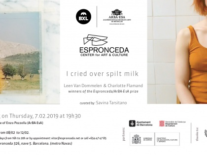 I cried over spilt milk. By Leen Van Dommelen & Charlotte Flamand, 07/02 @19h30