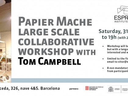 Papier Mache Large Scale Workshop with Tom Campbell