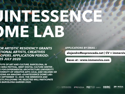 QUINTESSENCE DOME LAB : OPEN CALL